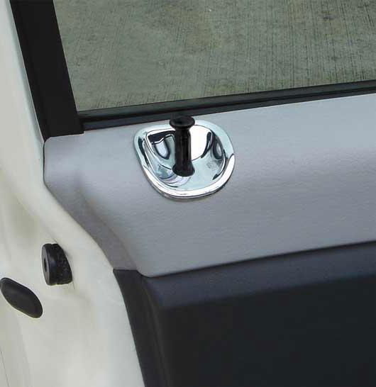 Pt Chrome Door Lock Pull Cups 06 10 187 Cruiser Motorsports